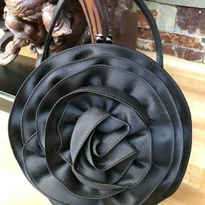 Fabulous black rose evening purse